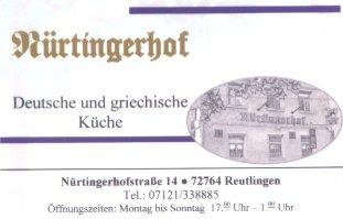 nuertinger hof reutlingen - Deutsche Küche Reutlingen